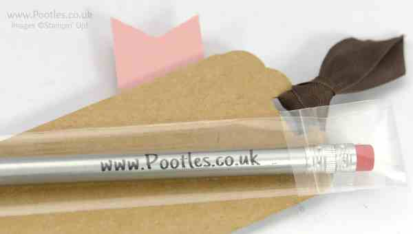 Stampin' Up! Demonstrator Pootles - Stampin' Up Customer Thank You Wrapped Pencils My Detail