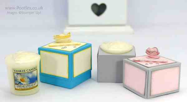 Stampin' up! Demonstrator Pootles -Yankee Candle Votive Gift Box, plus Surprise Cat Appearance!