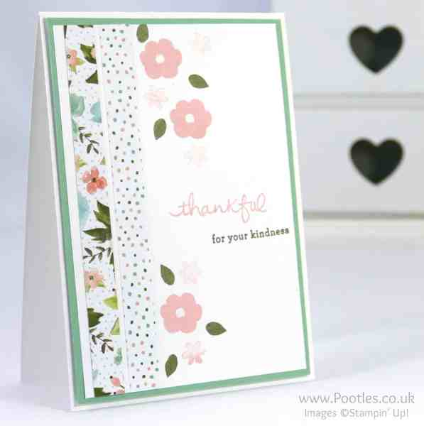 Stampin' Up! Demonstrator Pootles - Pretty Floral Card using Endless Thanks & Birthday Bouquet DSP