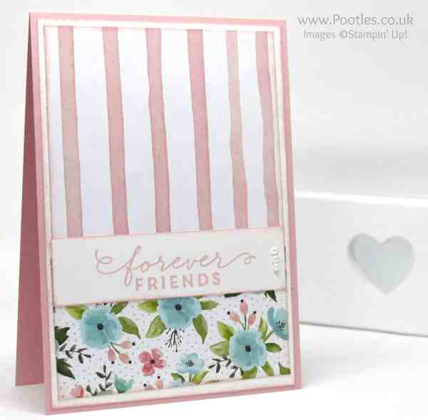 Stampin' Up! Demonstrator Pootles - First Sight and Birthday Bouquet makes Forever Friends