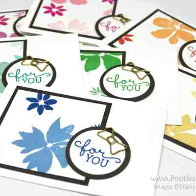 Thank You Cards using Blooms & Wishes