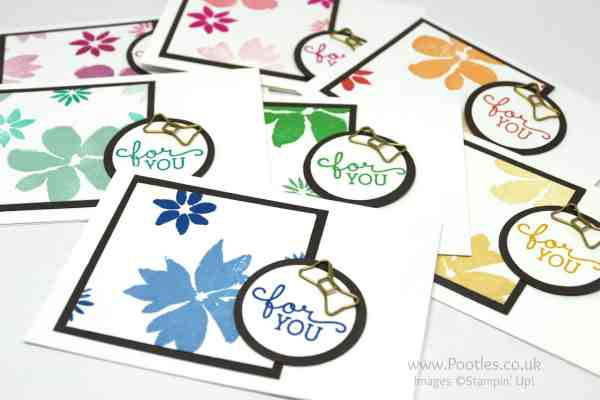 Stampin' Up! Demonstrator Pootles - Thank You Cards using Blooms & Wishes