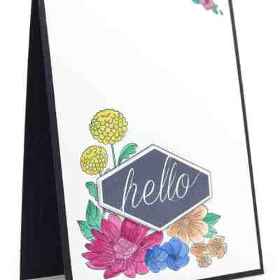 Accented Blooms with Tailored Tag Punch and Wink of Stella