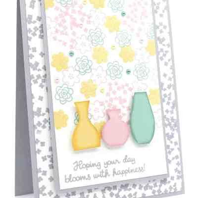 Varied Vases Floral Card and Soft Pastels