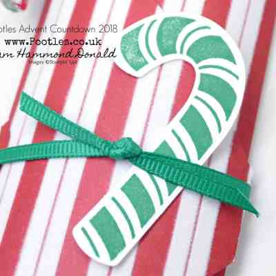 Pootles Advent Countdown 2018 #12 Candy Cane Envelope Punch Board Pouch