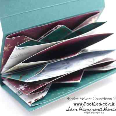 Pootles Advent Countdown 2018 #15 Mini Envelope Punch Board Wallet