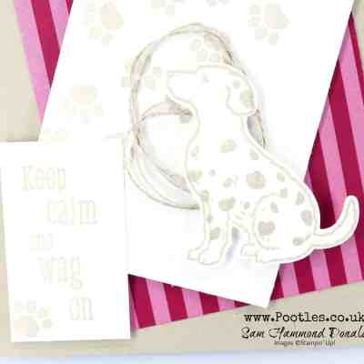 Happy Tails in Crumb Cake and Cherry Cobbler Paper by Stampin' Up!