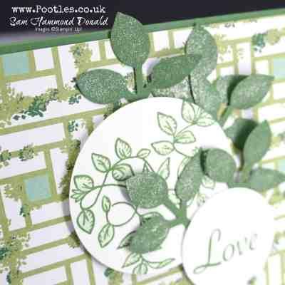 Verdant Garden Lane and pretty glittery Leaf Punch Detail