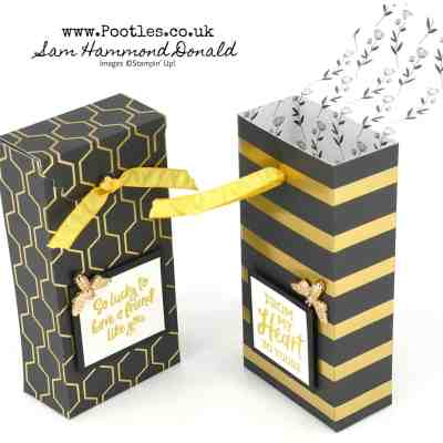 Golden Honey Tag Topper Box Tutorial