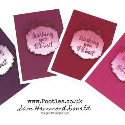 Tags in Bloom Ombre Customer Cards