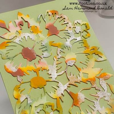 Watercolour Card Tutorial using Many Layered Blossoms Dies