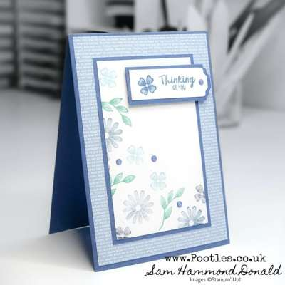 Framed For You Tumbling Flowers Card Idea