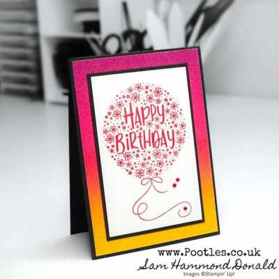 Hooray To You, Simple Glimmer Birthday Card