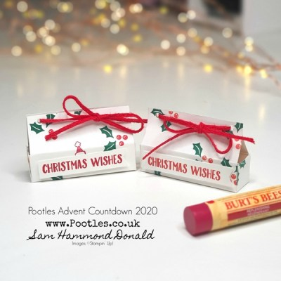 Pootles Advent Countdown 2020 How To Make a Lip Balm Box with Banner Year