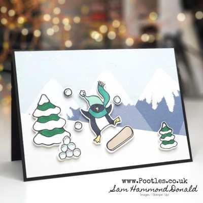 A Fun Christmas Card using the Freezin' Fun Bundle
