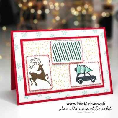 Brights Christmas Card using Festive Post