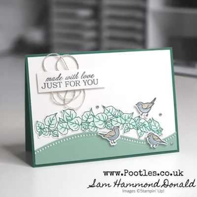 A Quite Curvy Glittery Card Idea