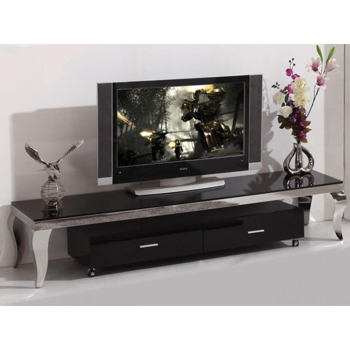 meuble tv inox design barone meuble