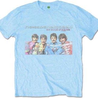 The Beatles Heren Tshirt XL LP Here Now Blauw