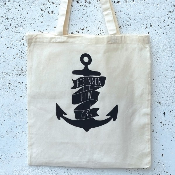 Tote bag Hisingen anchor