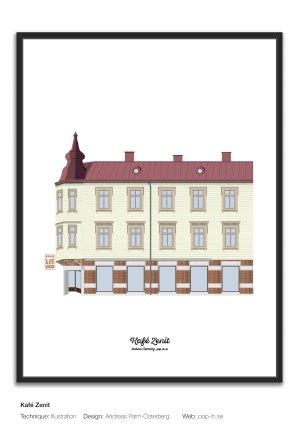 Kafé Zenit framed