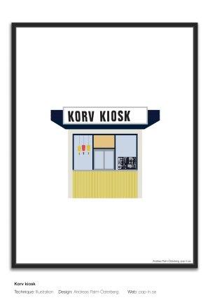 Korv kiosk framed