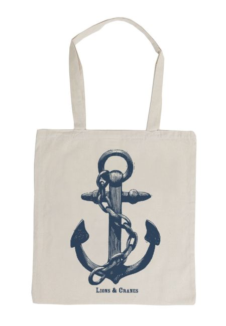Lions and cranes Anchor tote