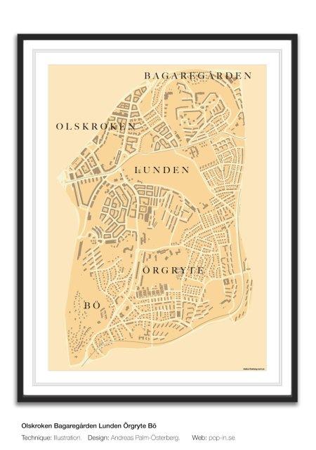 Olskroken Bagaregården Lunden framed