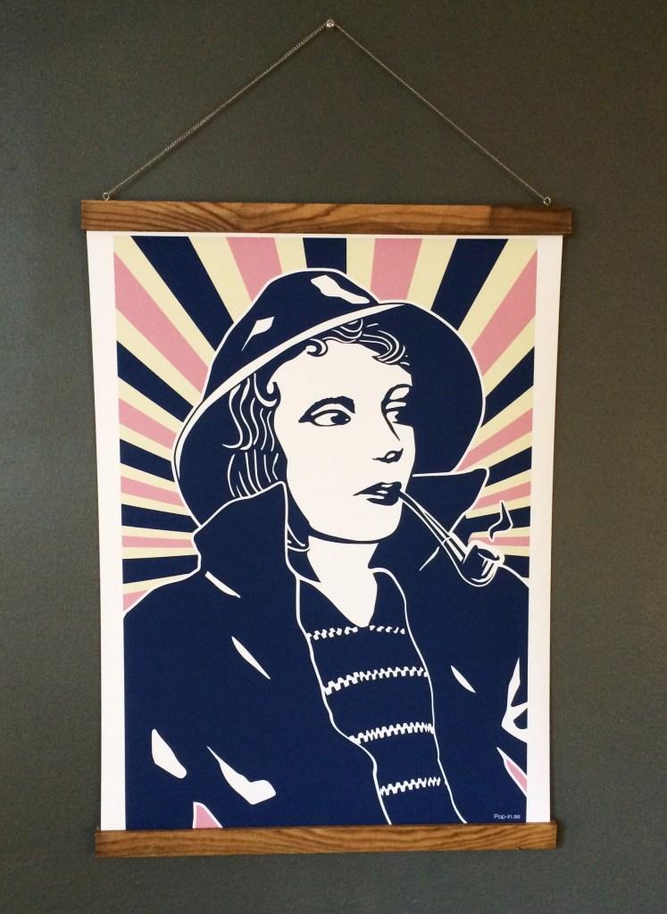 Fisherwoman framed