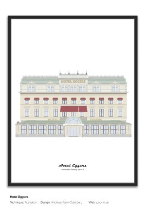 Hotel Eggers print framed