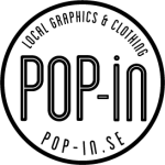 Pop-in logo black and white