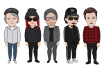 Pa Kenta & Bastarderna characters