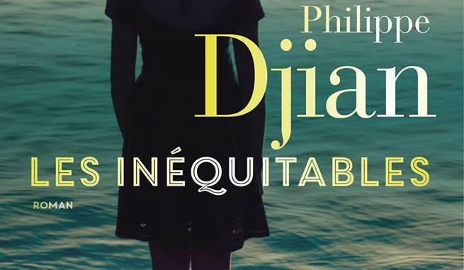 Page de couverture de Les inéquitables (une jeune fille fait face à la mer dans laquelle semble se baigner une silhouette masculine