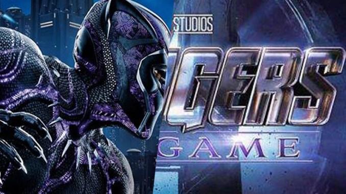 Montage des affiches de Black Panther et Avengers