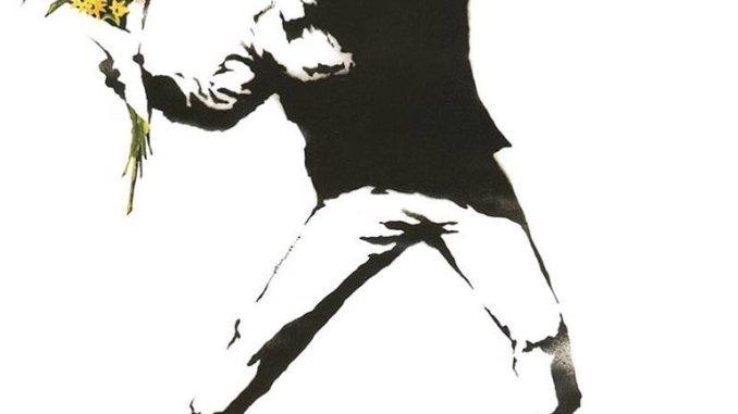 Une des oeuvres de Banksy