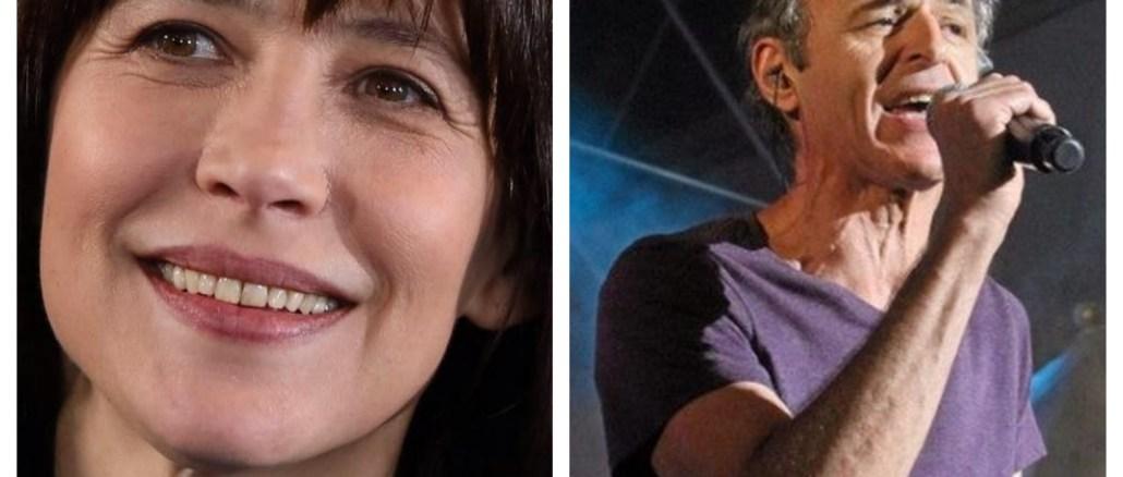 L'actrice Sophie Marceau à gauche et le chanteur Jean-Jacques Goldman à droite.