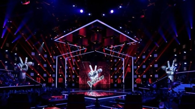 Le plateau de The Voice, sur TF1.
