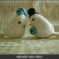 Crochet: pareja de pájaros