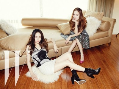 Jessica SNSD and f(x) Krystal - W Magazine June 2014 (10)