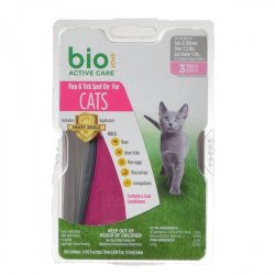 Bio Spot Active Care Flea & Tick Spot On for Cats (Cats 5 lbs - 6 Month Supply)