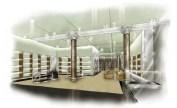 render layout interior loja Prada em Lisboa