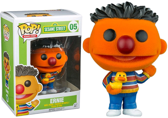 FUN7135–Sesame-Street-Ernie-Flocked-Pop-Vinyl-Figure