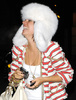 lily allen wearing a fox fur hat