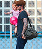 David Beckham and Harper Seven