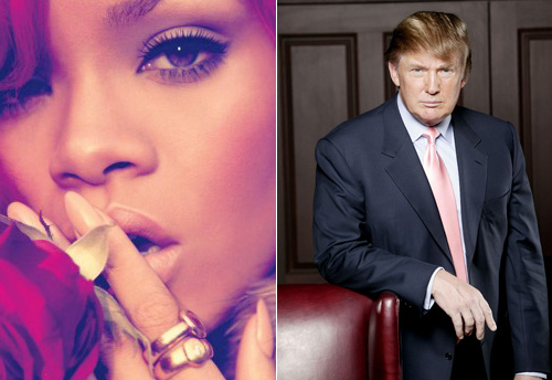 Rihanna and Donald Trump