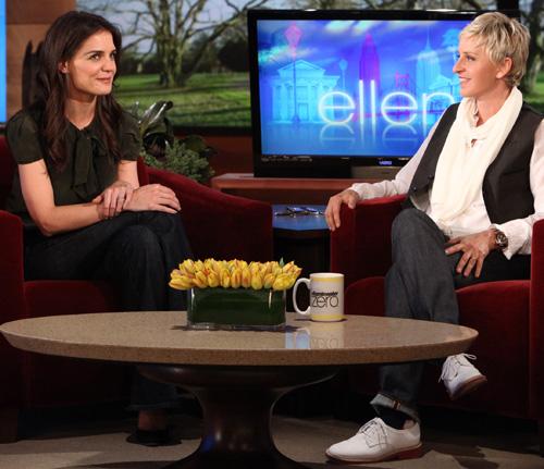 Katie Holmes and Ellen DeGeneres