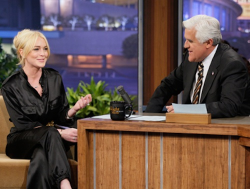 Lindsay Lohan and Jay Leno