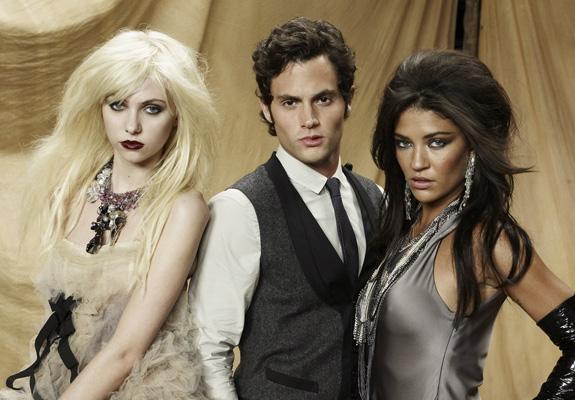 Taylor Momsen, Penn Badgley and Jessica Szohr