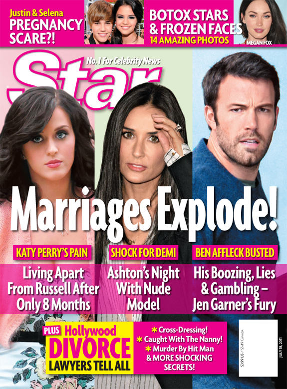 Hollywood Marriages Explode - Star Magazine