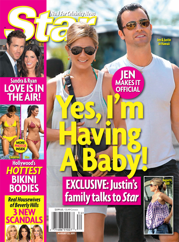 Star Magazine - Jennifer Aniston and Justin Theroux